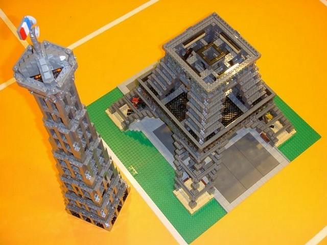 乐高的艾菲尔铁塔和实际建筑一样,是一个相当惊人的模型,比例大小为1